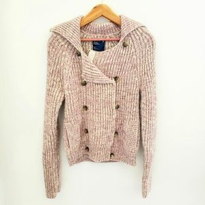 American Eagle Double Breasted Pink Sweater Jacket
